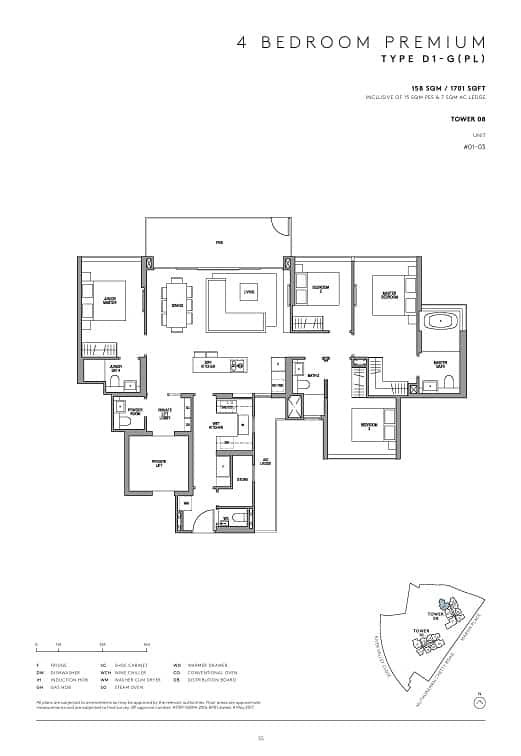 Martin Modern 4 Bedroom with private lift