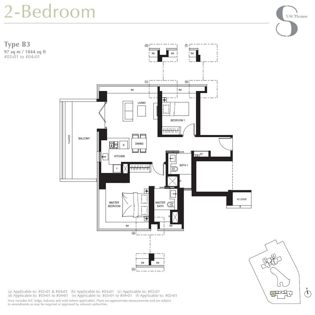 8 St Thomas Brochure 2 Bedroom Type B3