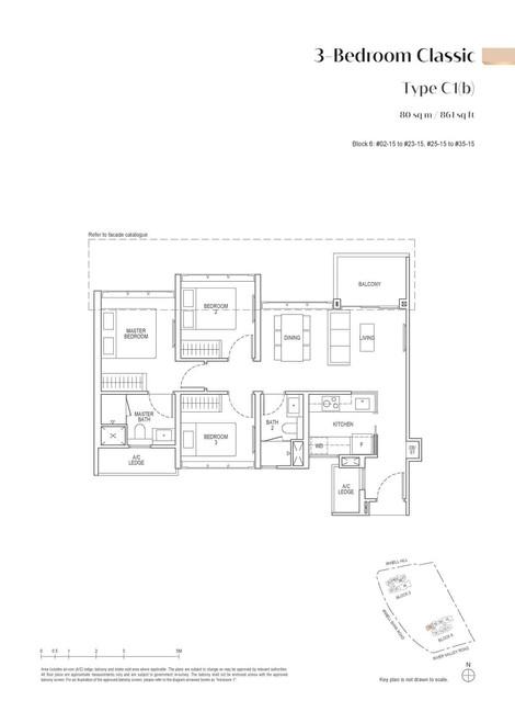 Irwell High Residences 3-Bedroom Classic