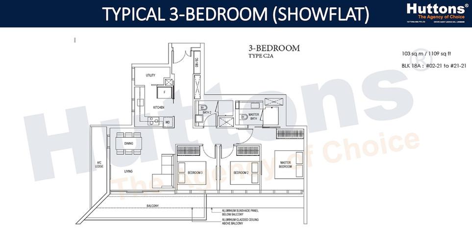Amber Park - 3 Bedroom (Showflat)