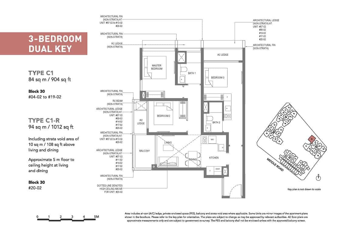 The M 3-Bedroom Dual Key