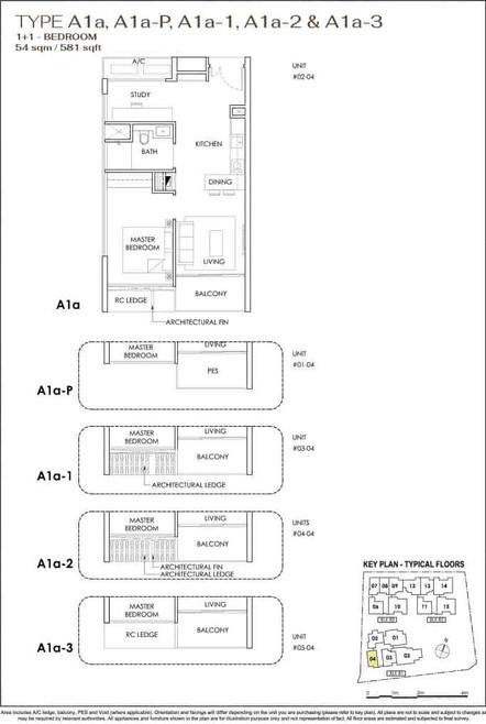 Phoenix Residences 1-Bedroom with Study.