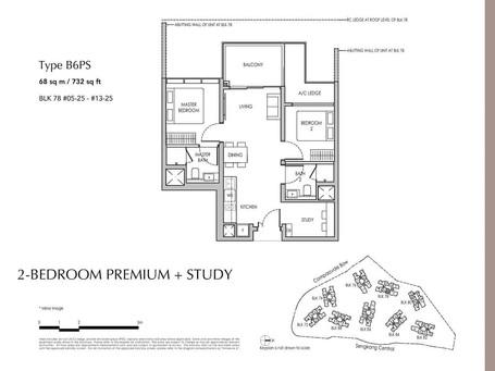 Sengkang Grand 2-Bedroom Premium + Study