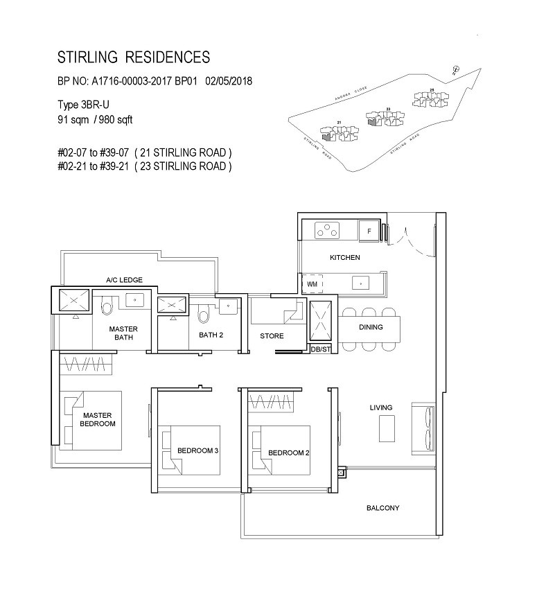Stirling Residences 3 Bedroom Utility