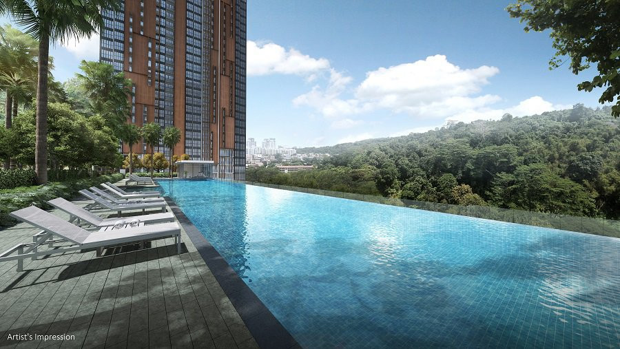 50m infinity pool at  7th storey.