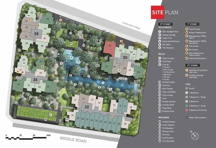 The M condominium site Plan