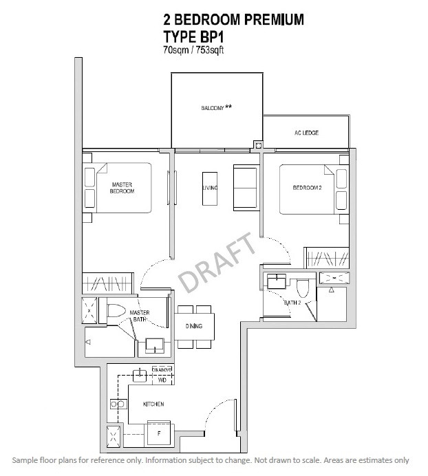 2 Bedroom Premium Type BP1