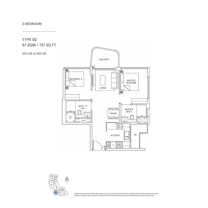 2 Bedroom Type B2