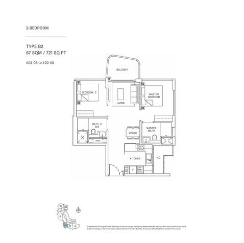 2 Bedroom Type B2