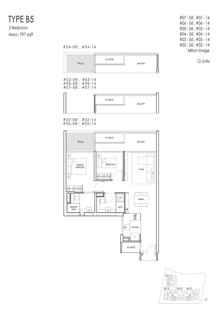 Kandis Residence 2-Bedroom Type B5