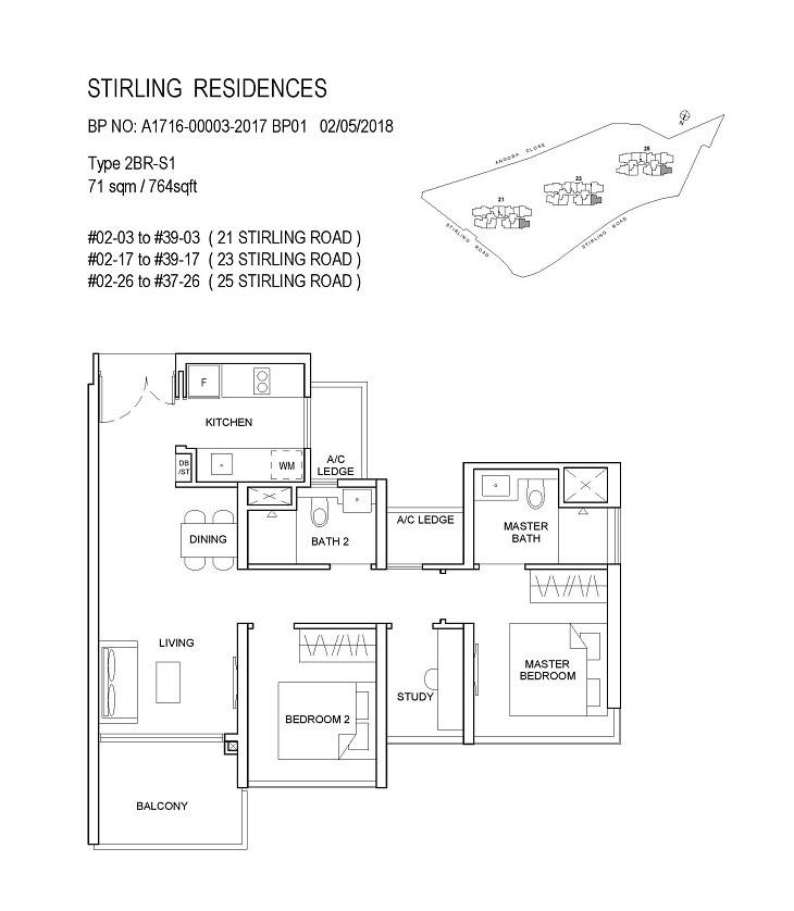Stirling Residences 2 Bedroom Study