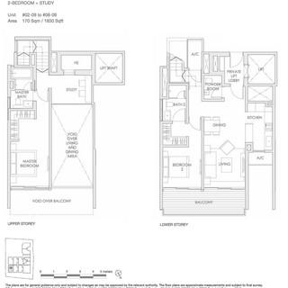 Lloyd 65 Type B1-01 - 2 Bedroom + Study