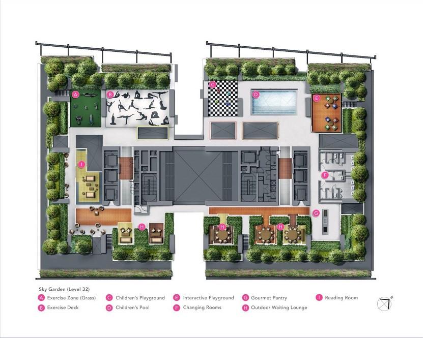 South Beach Residences L32 Sky Garden