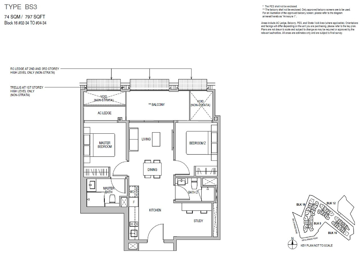 Mayfair Gardens 2 Bedroom Study Type BS3