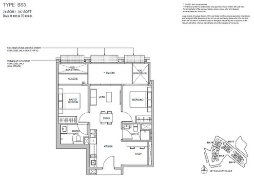Mayfair Gardens 2 Bedroom Study Type BS3