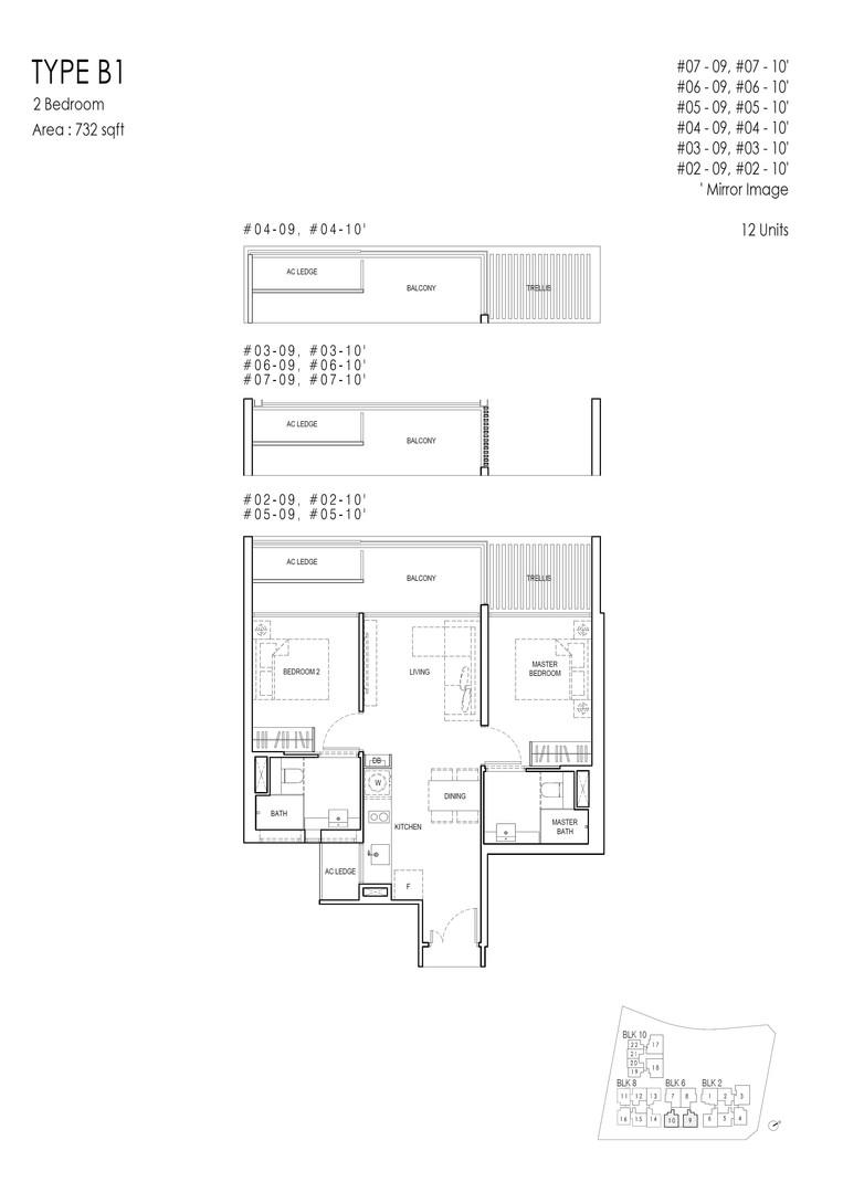 Kandis Residence 2-Bedroom Type B1