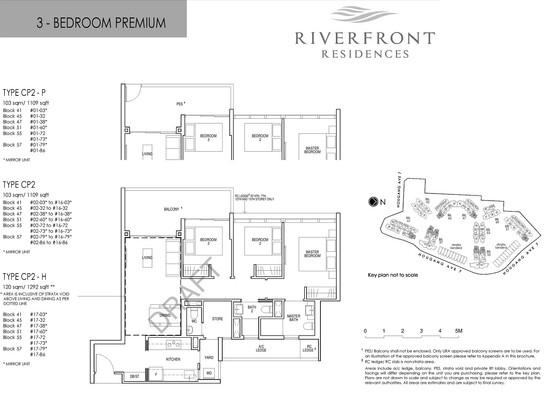 Riverfront Residences 3 Bedroom Premium