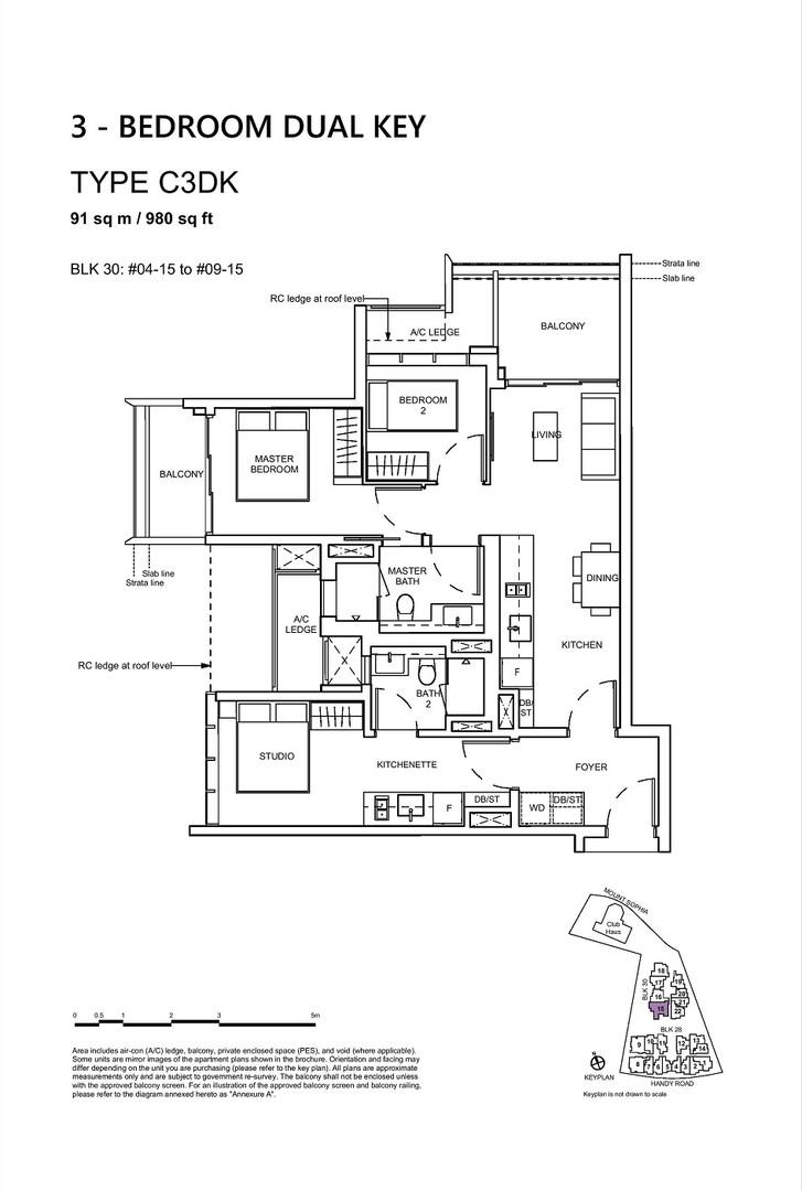 3 Bedroom Dual Key