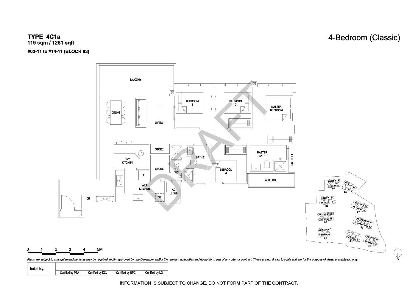 4 Bedroom Type 4C1a
