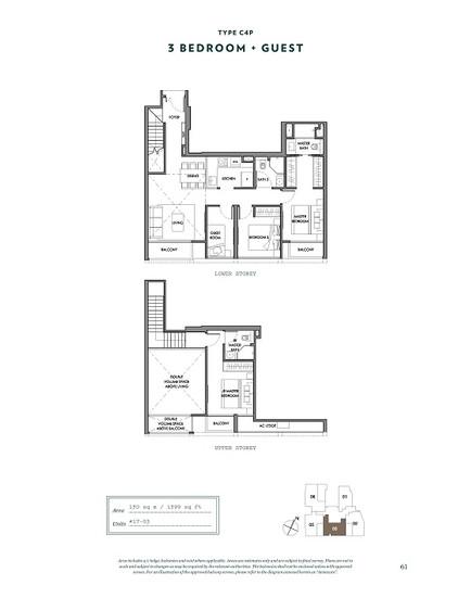 Nyon 3 Bedroom Floor Plan