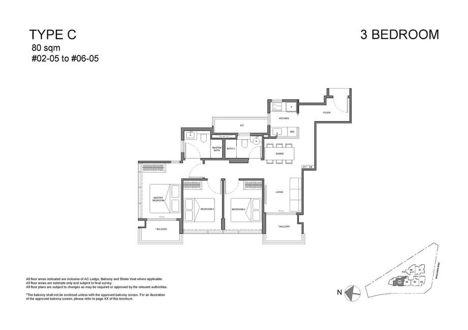 Neu at Novena 3-bedroom Type c