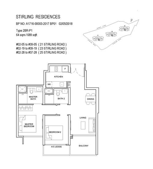 Stirling Residences 2 Bedroom Premium