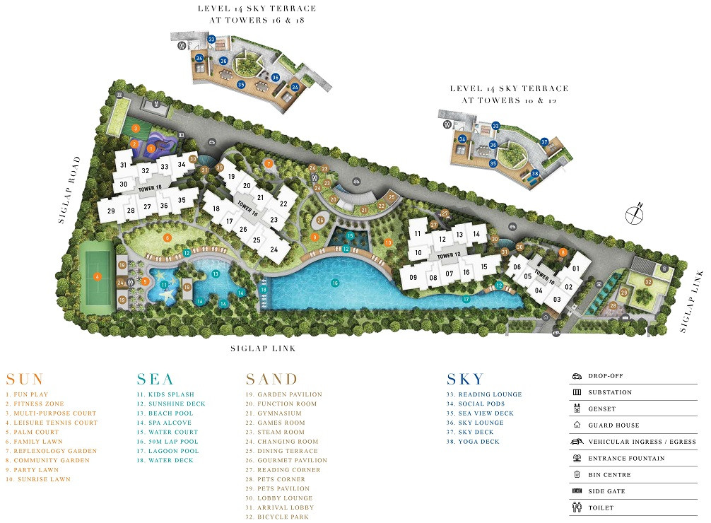 Seaside Residences site plans
