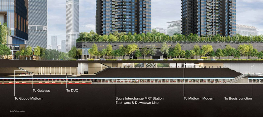 Midtown Modern  connected to MRT