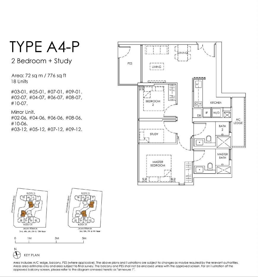 Mont Botanik Residence 2-Bed Study Type A4P