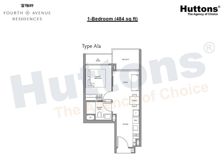 Fourth Avenue Residences - 1 Bedroom