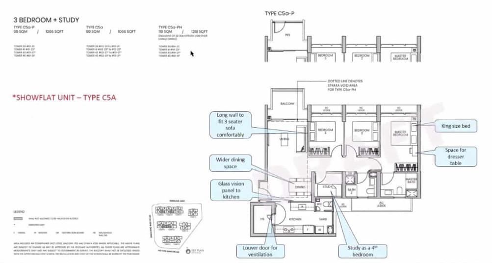 Parc Greenwich 3-Bedroom Study