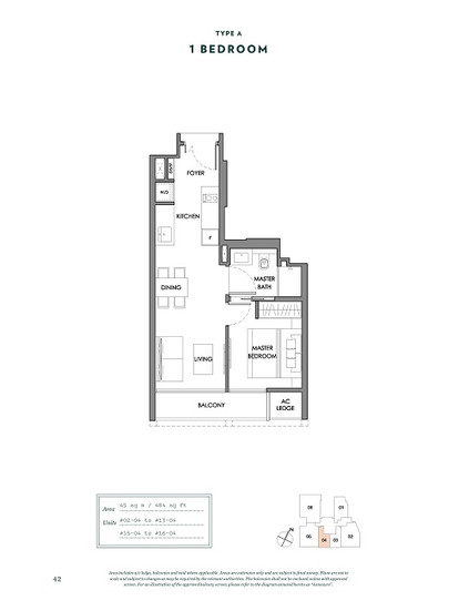 Nyon 1 Bedroom Floor Plan