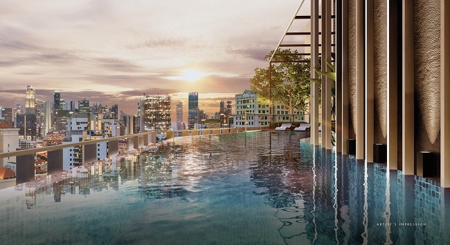 The Iveria roof top pool