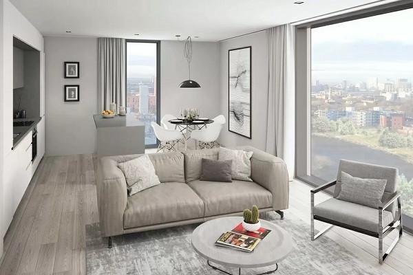 Living Room of Uptown Riverside