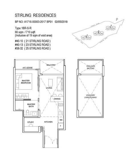 Stirling Residences 1 Bedroom Study