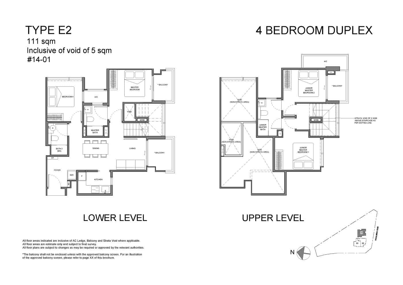 Neu at Novena 4-bedroom duplex Type E2