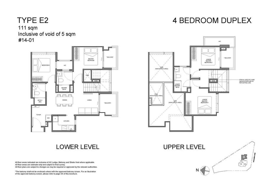 Neu at Novena 4-bedroom duplex Type E2