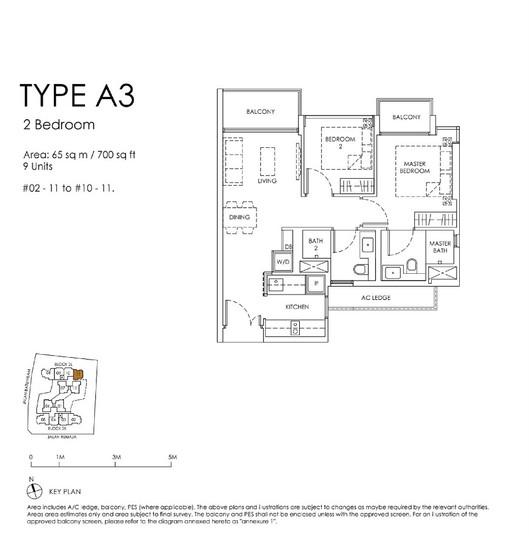 Mont Botanik Residence 2-Bedroom Type A3