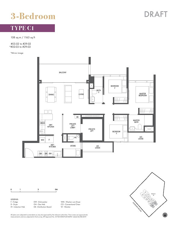 Pullman Residences Newton 3 Bedroom