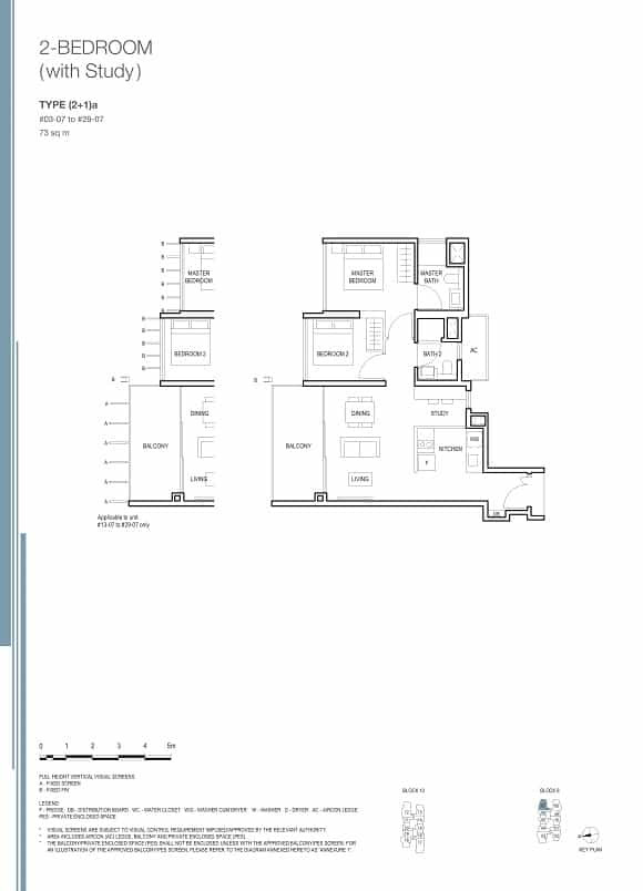 Midwood at Hillview Rise 2 Bedroom Study
