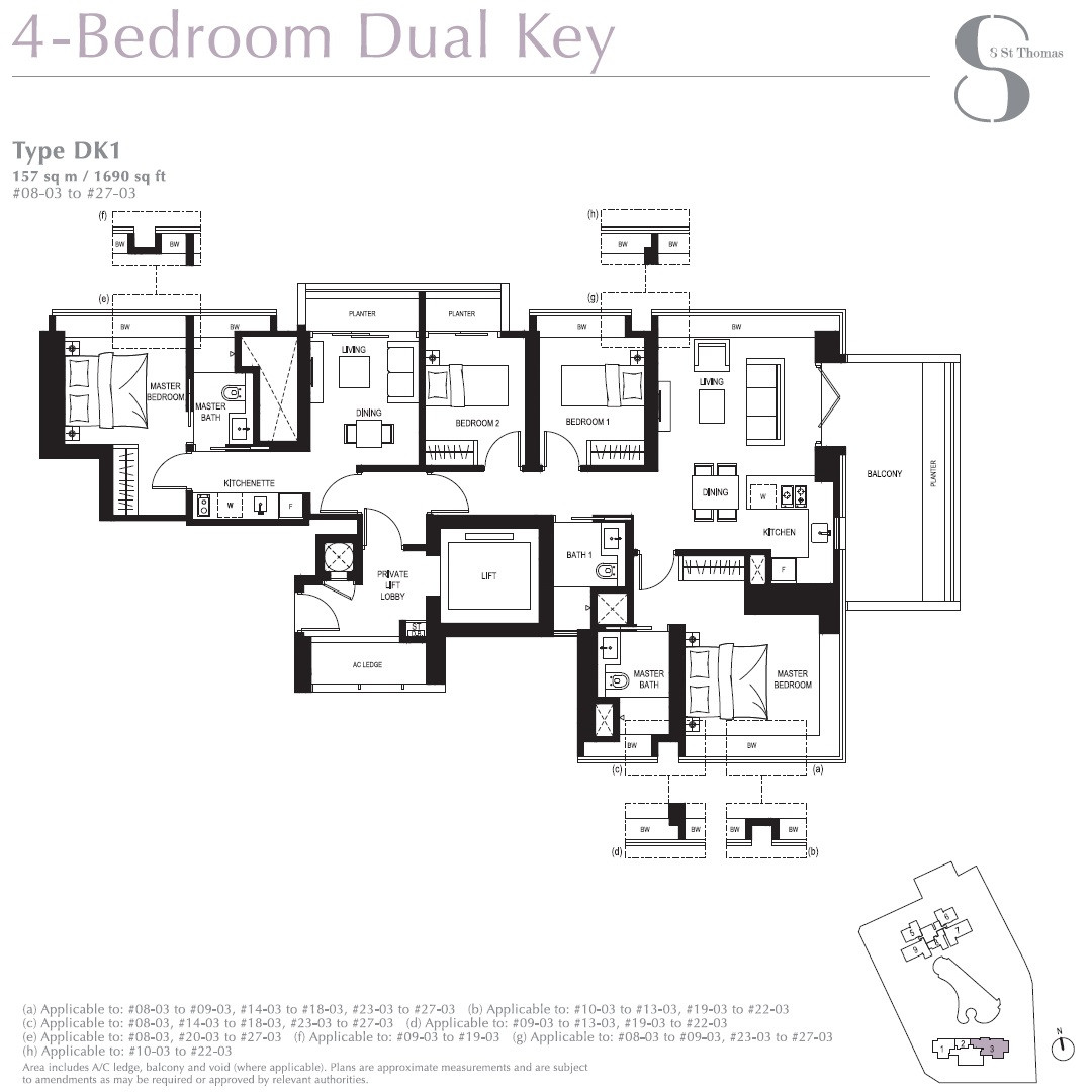 8 St Thomas Brochure 4 Bed Dual Key DK1