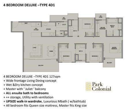 Park Colonial 4 Bedroom Deluxe - Type 4D1