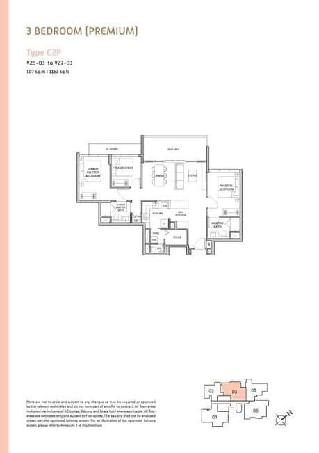 Verticus condo 3-Bedroom Premium
