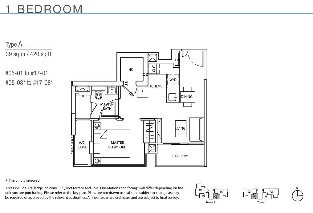 The Line _ Tanjong Rhu 1 Bedroom Type A