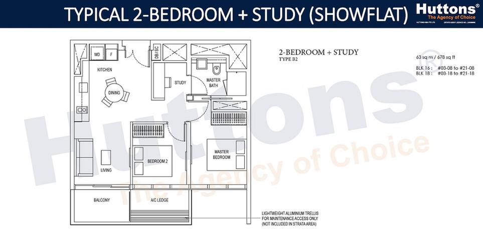 Amber Park - 2 Bedroom Study
