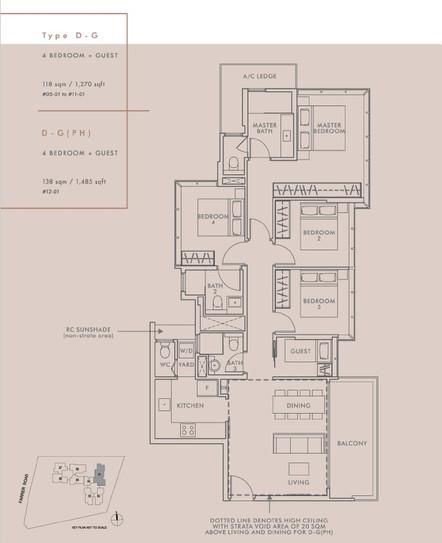 4 Bedroom + Guest Type D-G