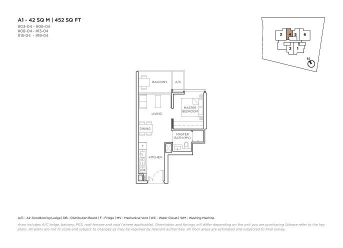 3 Cuscaden 1 Bedroom Type A1