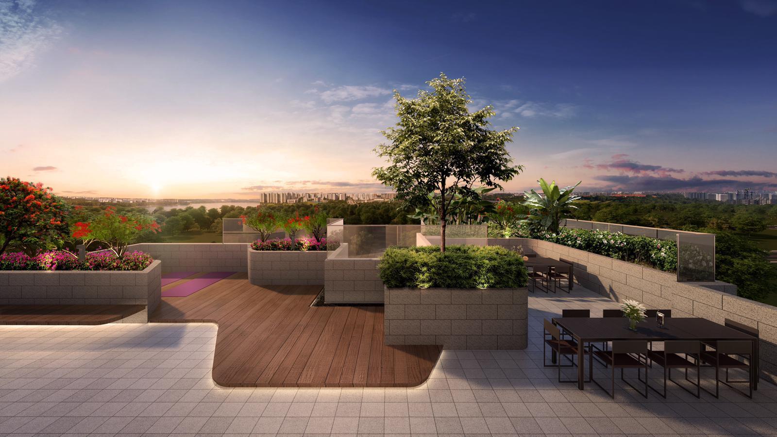 Lattice One Roof Top Garden