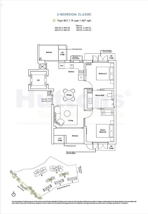 2 Bedroom Classic 807sqft
