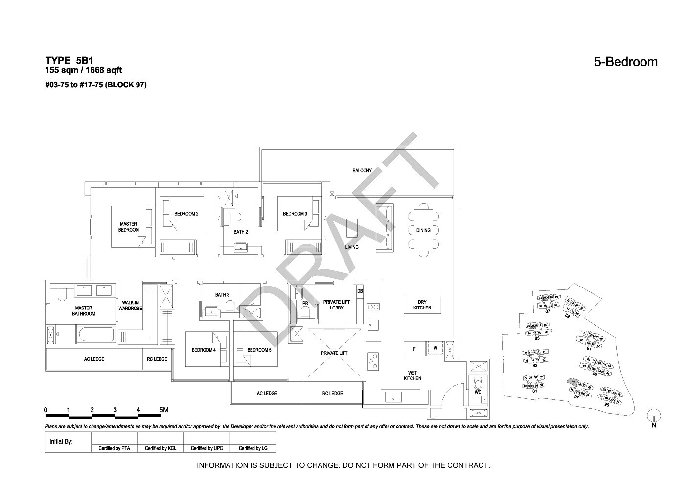 5 Bedroom Type 5B1